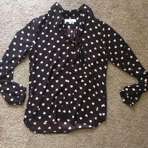 Heart pattern LOFT blouse